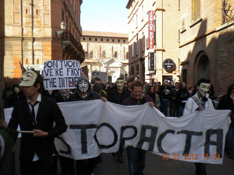 Toulouse 10 mars 2012 : Manifestation STOP ACTA