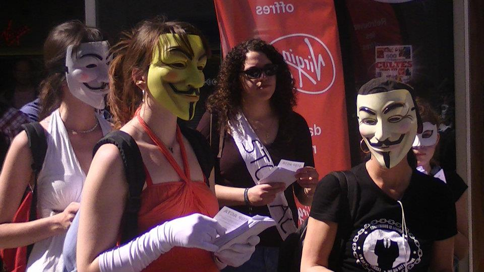 [ Montpellier ] Manifestation contre ACTA – Anonymous 31 mars 2012