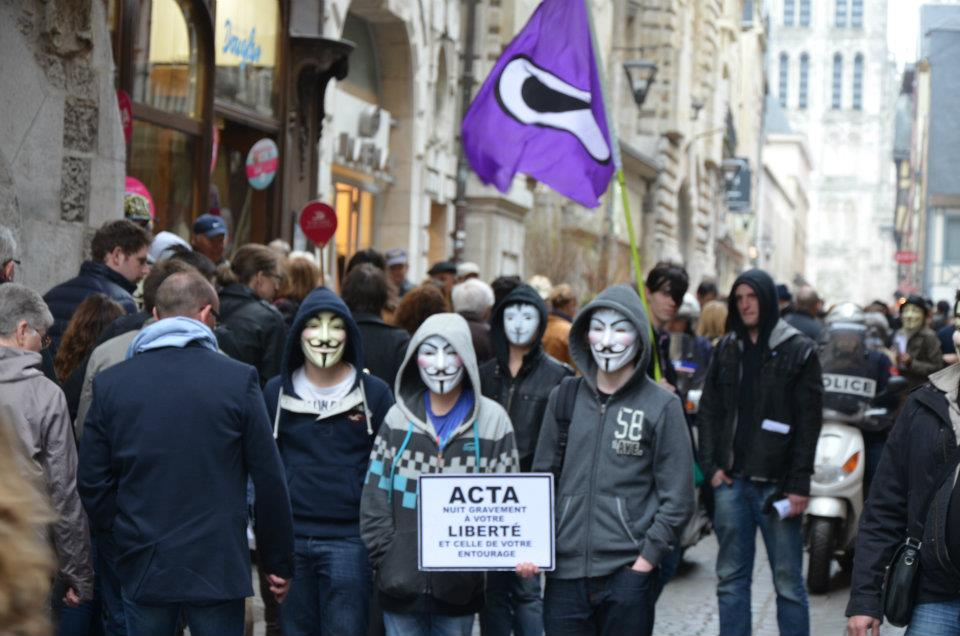 [Rouen] Manifestation contre ACTA – Anonymous 31 Mars 2012