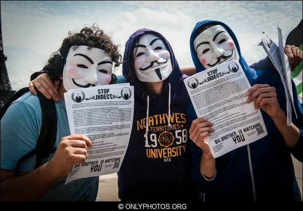 28 juillet : Manifestations ANONYMOUS Vs INDECT / Prochain rassemblement le 20 octobre!(Photo)