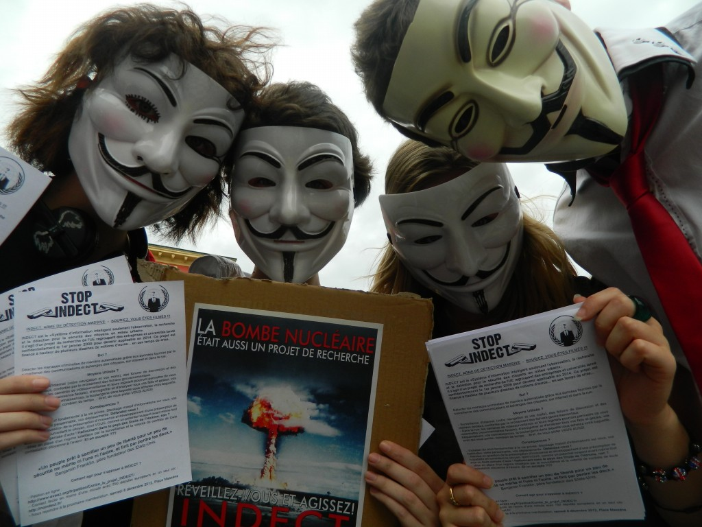Nice contre INDECT : Manifestation du 20 octobre 2012 #Anonymous
