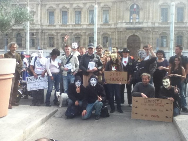 Marseille contre #INDECT : Manifestation #Anonymous du 20 octobre 2012