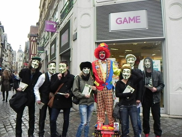 Rouen contre #INDECT : Manifestation #Anonymous du 20 octobre 2012