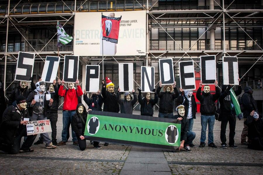 [Paris] 8.12.12 Manifestation contre le traité INDECT ( #Anonymous #opBigBrother )